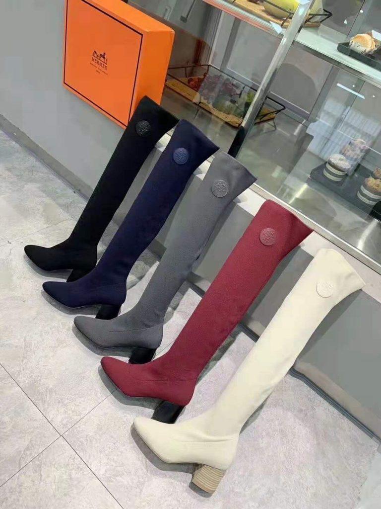 Hermes,爱马仕秋冬新款弹力长靴