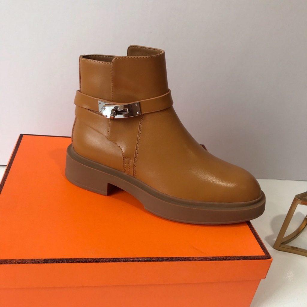 Hermes,爱马仕kelly扣短靴