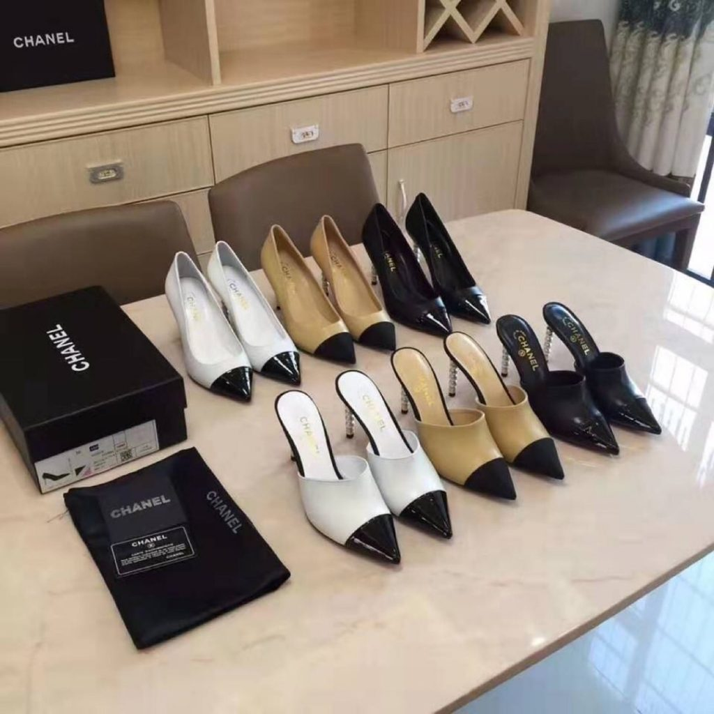 Chanel,香奈儿珍珠高跟鞋,