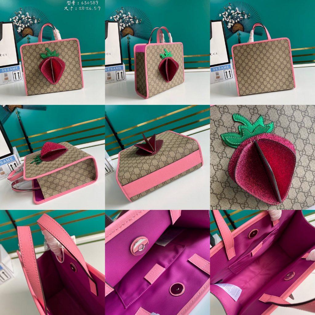 Gucci,古奇新款草莓包,28*26.5*9cm