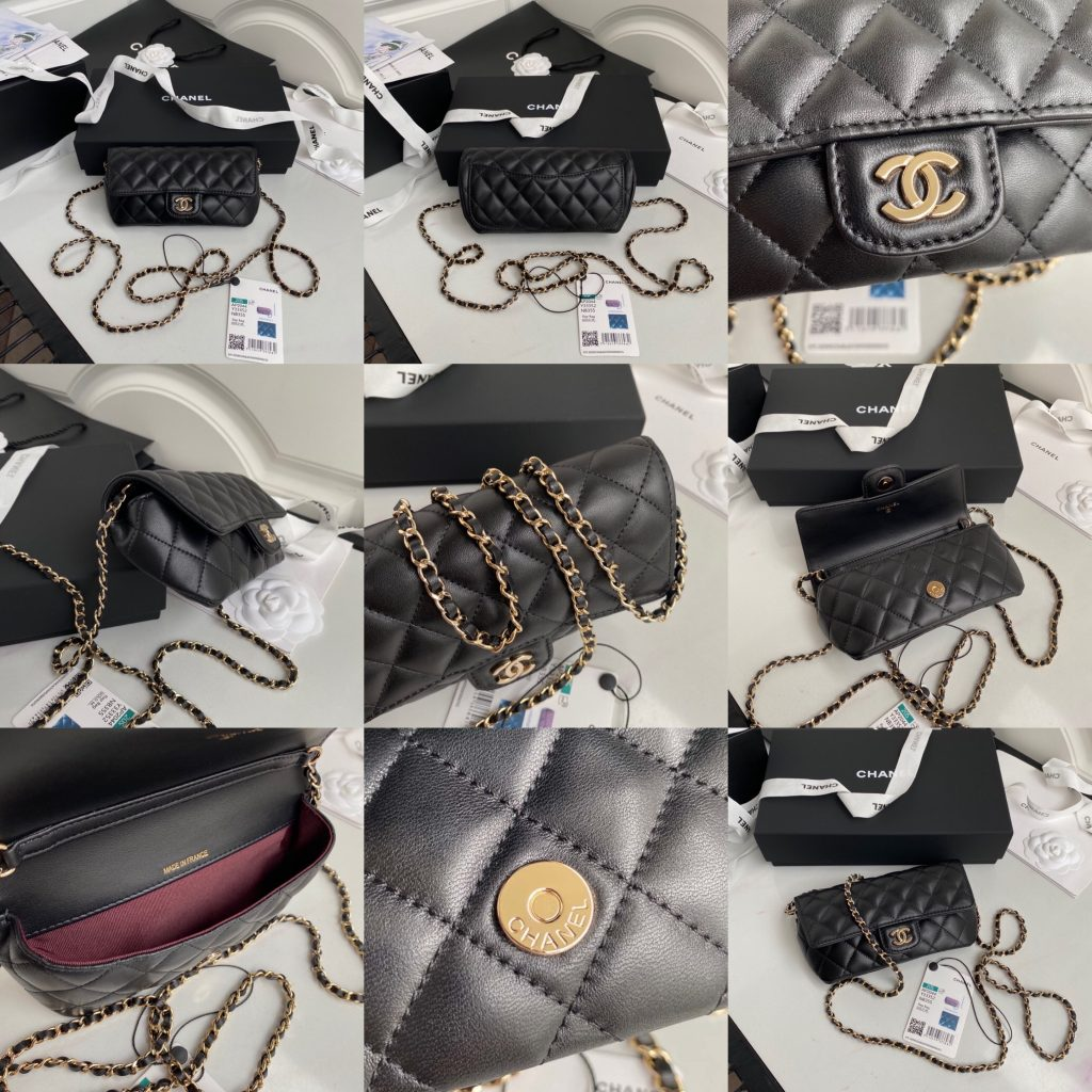 Chanel,香奈儿眼镜包,18.5*5*9cm