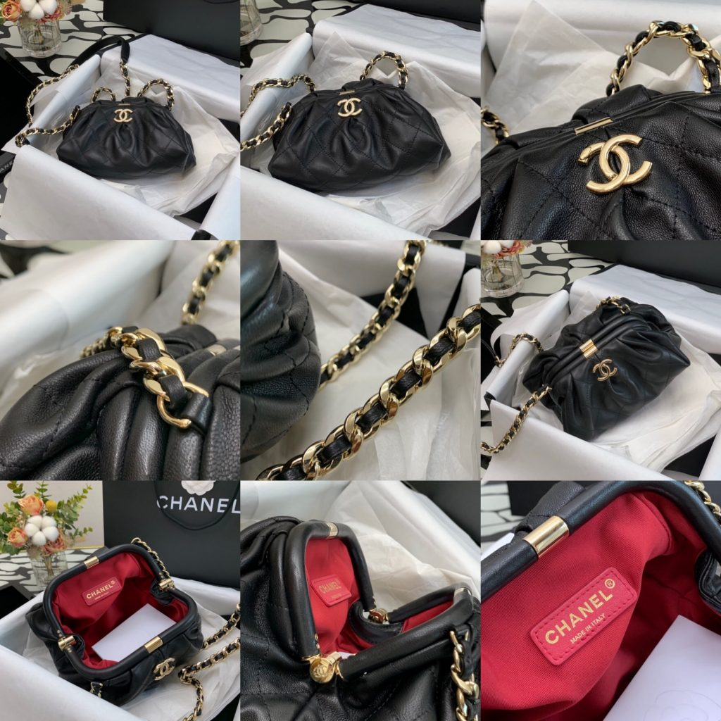 Chanel,香奈儿链条饺子包,22cm