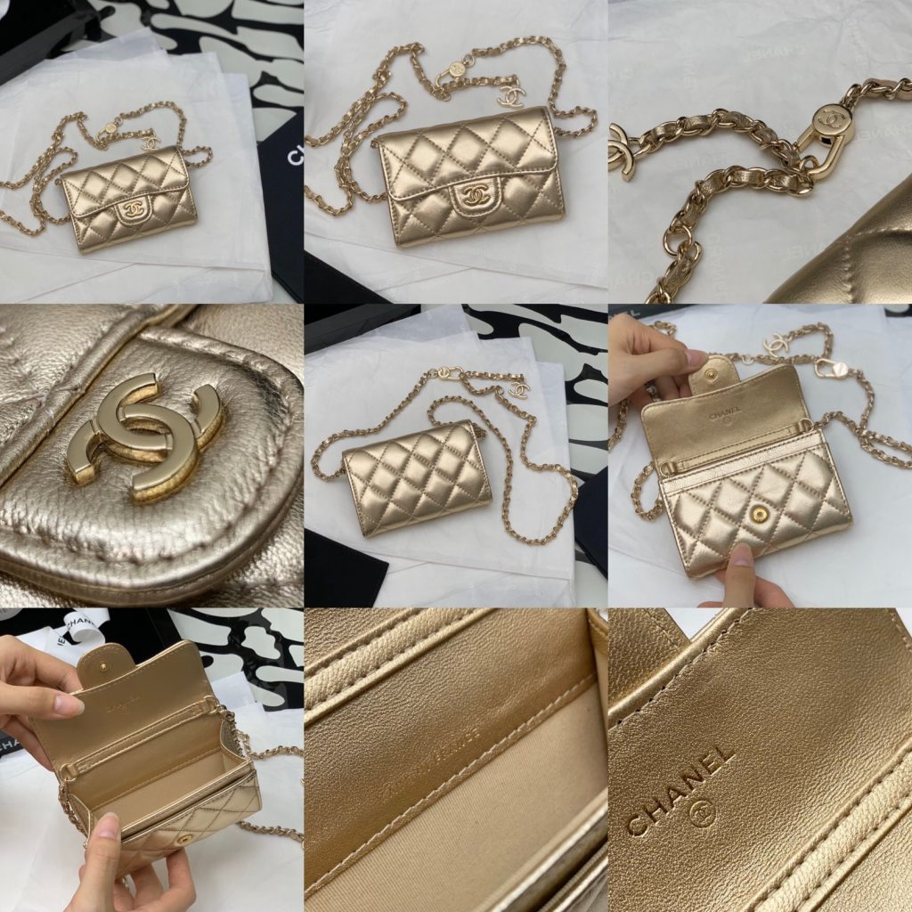 Chanel,香奈儿链条腰包,7.5*11.3*2.1cm
